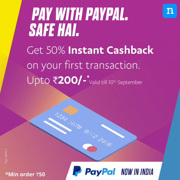 Niki App - Flat 50% Cashback upto Rs.200 on Recharges and Bill Payments via PayPal