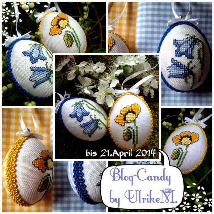 Схема вышивки крестом пасхального яйца