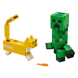 Minecraft Creeper and Ocelot Lego Set