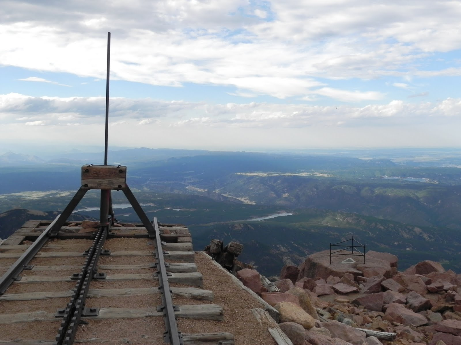 The End Of Cog Railway Almost Seems To Dangle Over Side Pikes Peak At 14 110 Feet Not Only Are You Well Above Tree Line Re Also Past