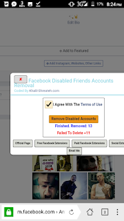 remove disable id on facebook with mobile