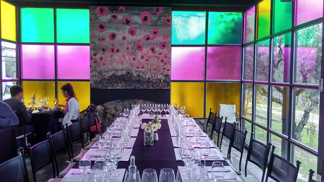 Sala de almoço da vinícola El Enemigo, em Mendoza
