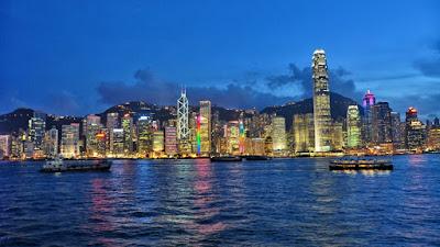 Hongkong Skyscrapers in night - Salika Travel - Hongkong Group Series Jan-Mar 2018