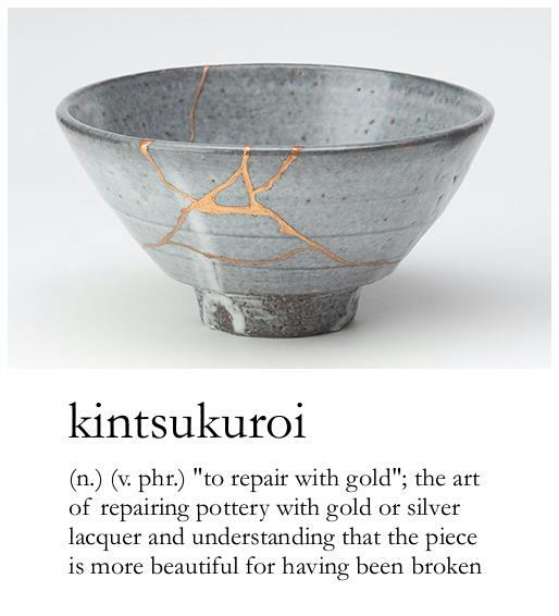Image of a bowl repaired with gold