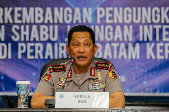 Kepala Badan Narkotika Nasional (BNN) Komjen Pol Budi Waseso