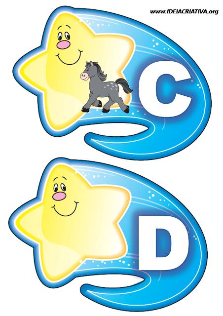 Alfabeto Ilustrado Estrela Cadente