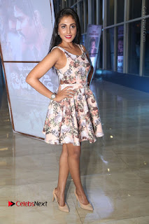 Actress Madhu Shalini Stills in Floral Short Dress at RGV Shiva to Vangaveeti Event  0183.JPG