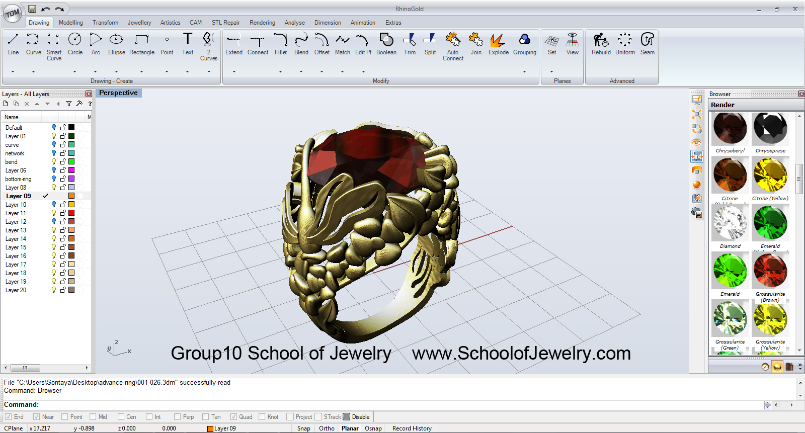 Group10-school of jewelry ,โรงเรียนสอนออกแบบเครื่องประดับ