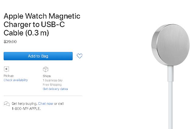 ساعة Apple Watch تحصل على شاحن USB-C مغناطيسي
