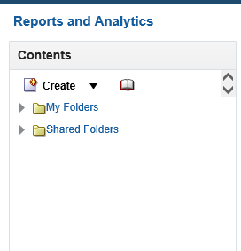 My Folders and Shared folders in Oracle Fusion Reports