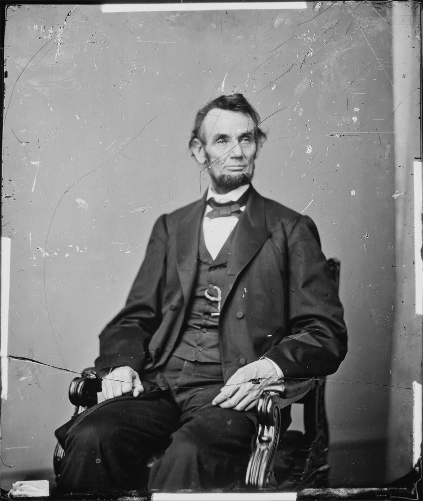 Retrato de Abraham Lincon por Brady