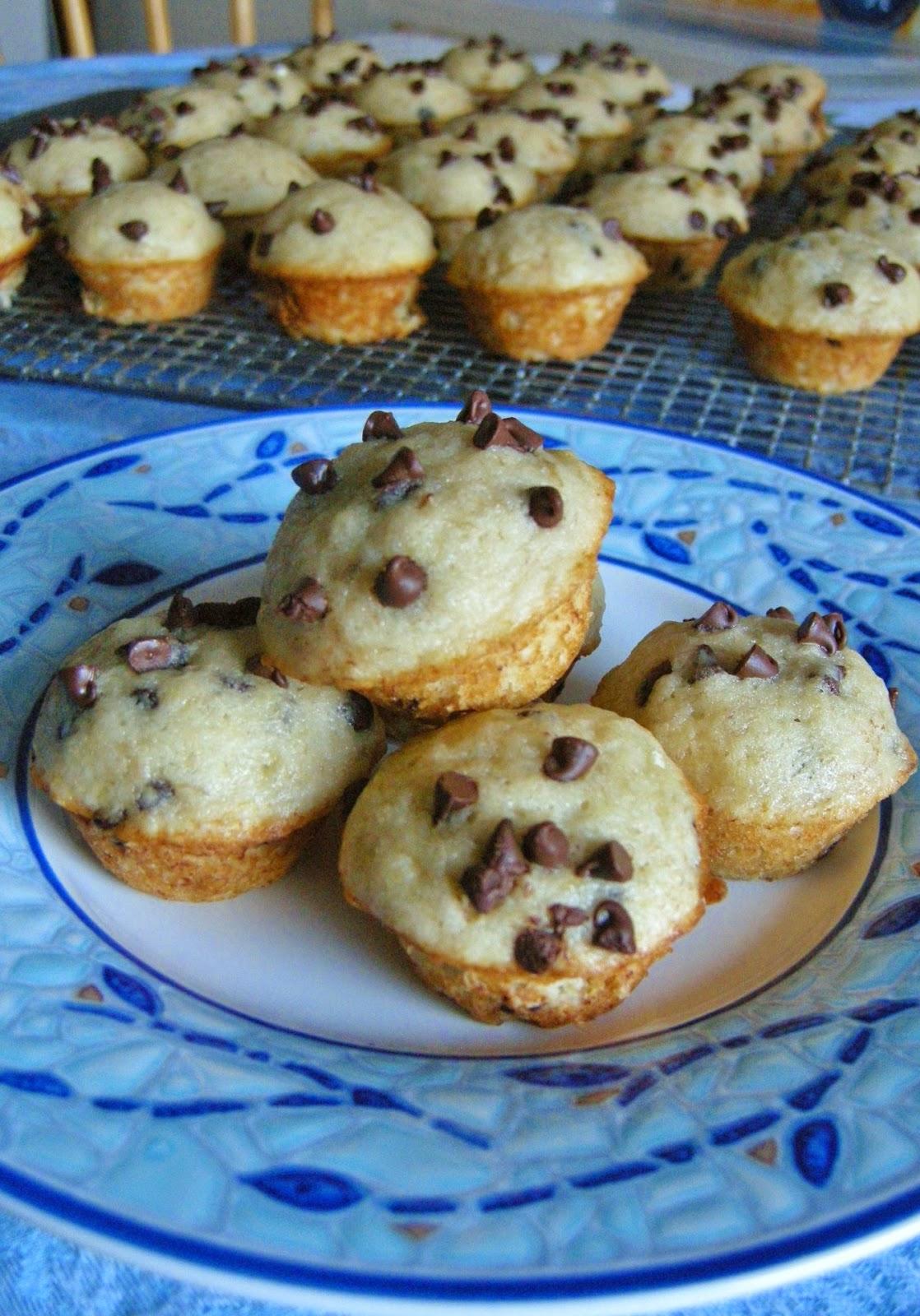how to make mini chocolate chip muffins