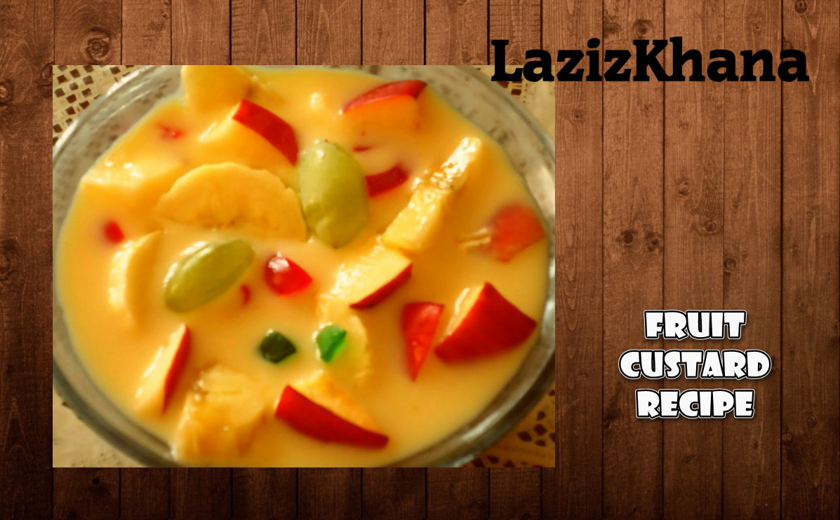 Fruit Custard Recipe in Roman English - Fruit Custard Banane ka Tarika