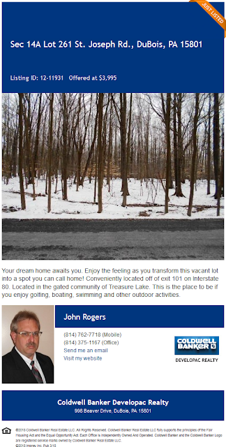 lot 261 Section 14a Treasure Lake For Sale John A Rogers Coldwell Banker Developac Realty