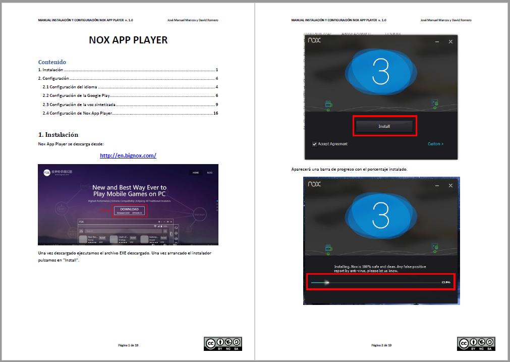 Informática para Educación Especial: Manual para Nox App Player, uno