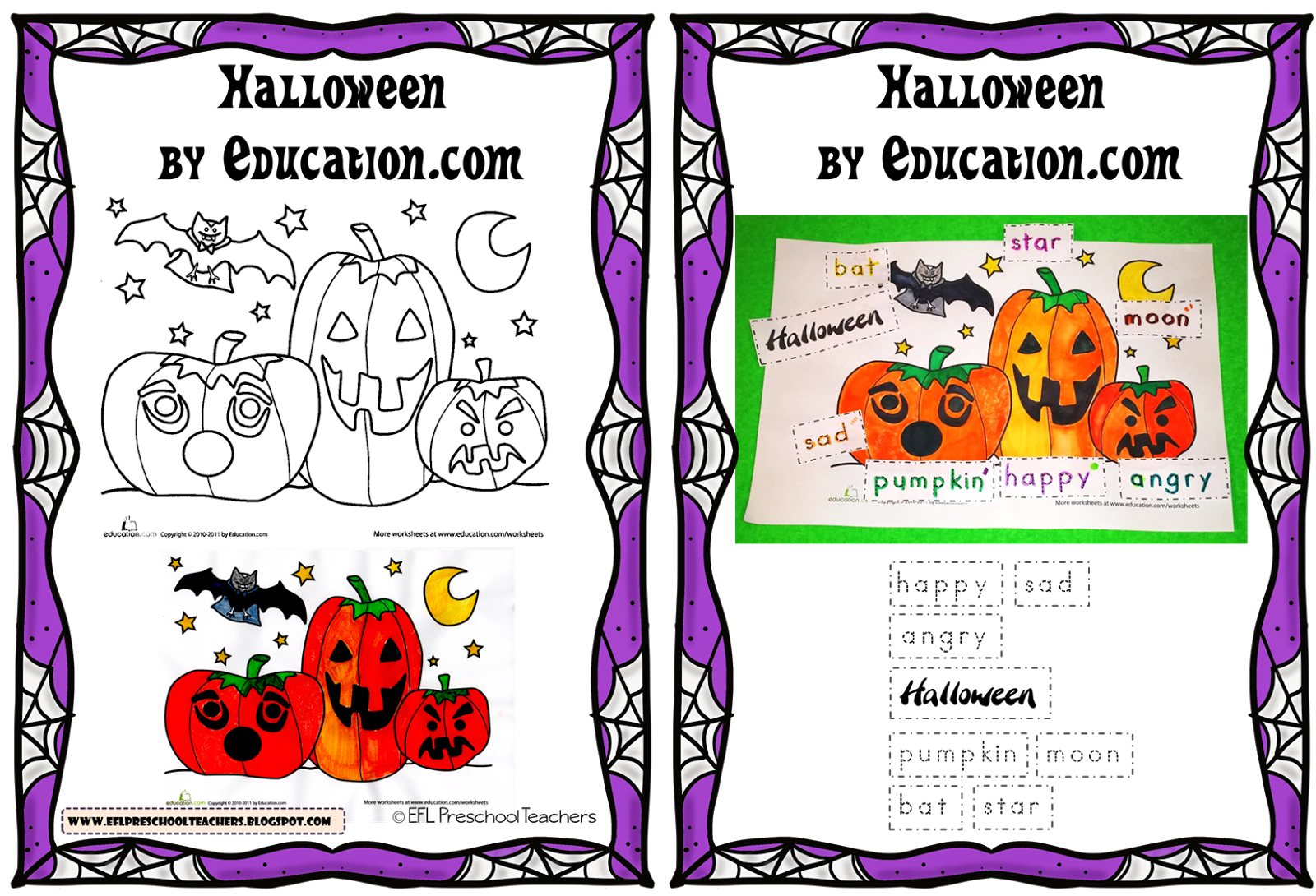Esl Efl Preschool Teachers Halloween By Education