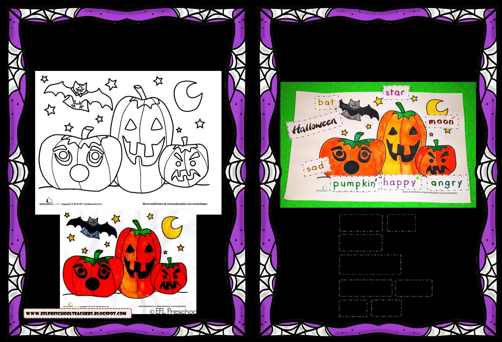 Esl Efl Preschool Teachers Halloween By Education