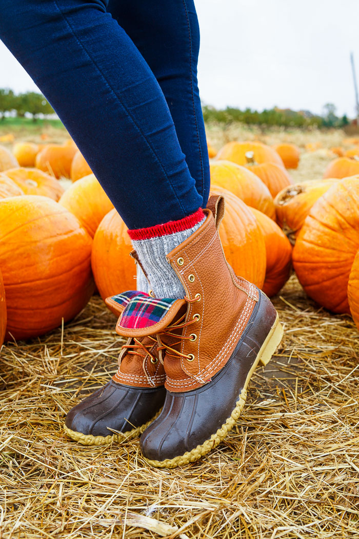 Krista Robertson, Covering the Bases,Travel Blog, NYC Blog, Preppy Blog, Style, Fashion Blog, Travel, Fall Outfits, Fall Style, What to Wear for the Fall, Pumpkin Picking, LL Bean Plaid Bean Boots