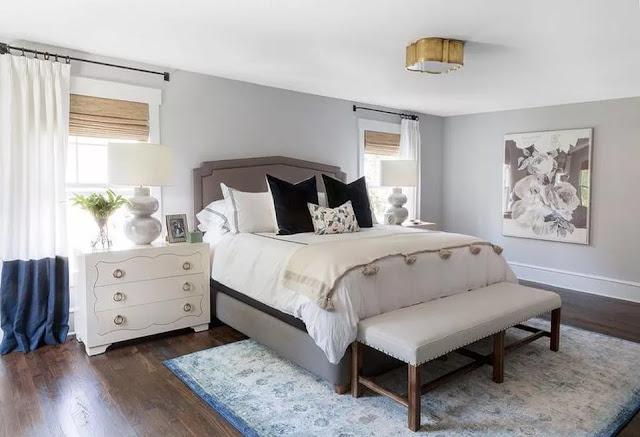 ابتكارات اضاءه غرف نوم بتصميمات بالوان غامقه 2018