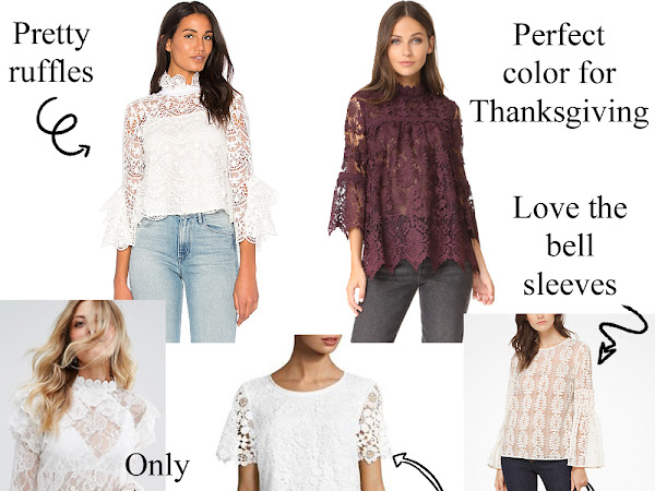 Style Crush: Lace Tops