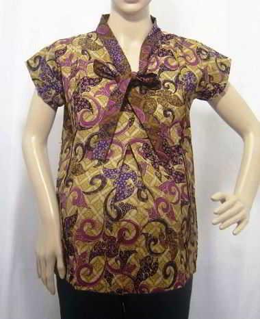 14 Contoh Model Baju Batik Untuk Ibu Hamil Modern Terbaru
