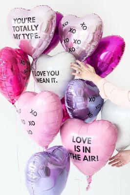 Mensagens de amor para decoração de festas e a tendência dos balões