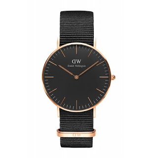 DANIEL WELLINGTON Ladies Classic Black Cornwall 36mm