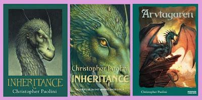 portadas de la novela de fantasía juvenil Legado, de Christopher Paolini