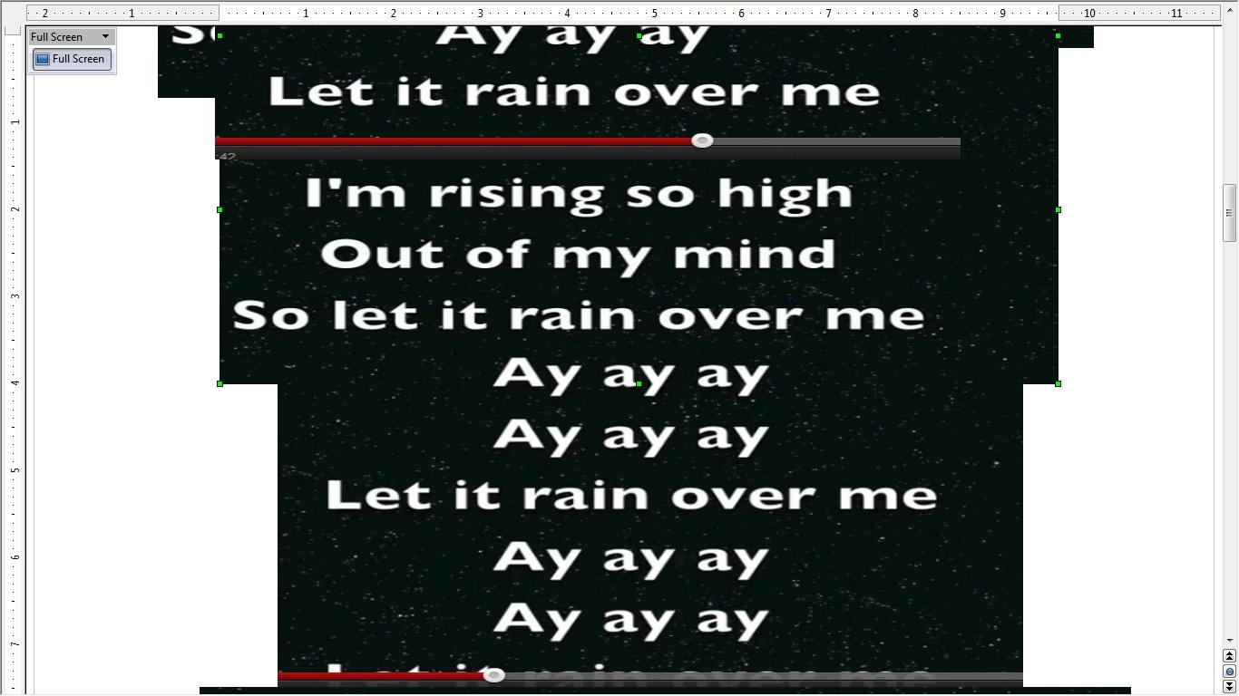 Song Lyrics: Let it Rain over me