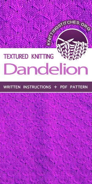 Knitting Stitches -- Knits, Knitting stitches and Knitting patterns. Free Knitting Pattern #knittingstitches #knittingpattern