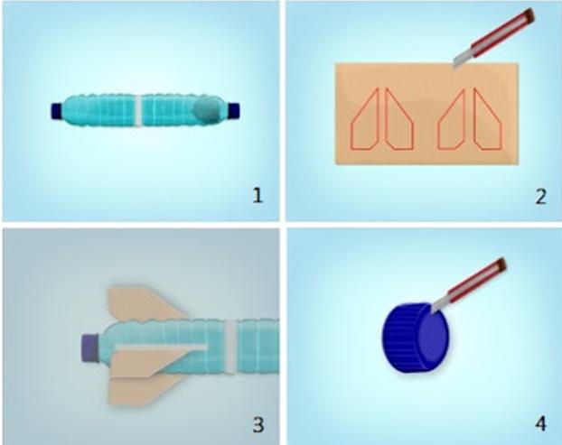 Cara Membuat Roket Air Dengan Mudah EIO GAME