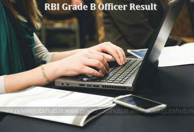 RBI Grade B Officer Result