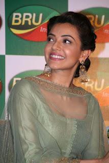 Actress Kajal Aggarwal Pictures at Bru Coffee Meet  0009