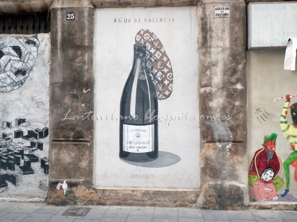 Arteurbanograffitiwallpainting street art en el barrio for Aguas de valencia oficinas