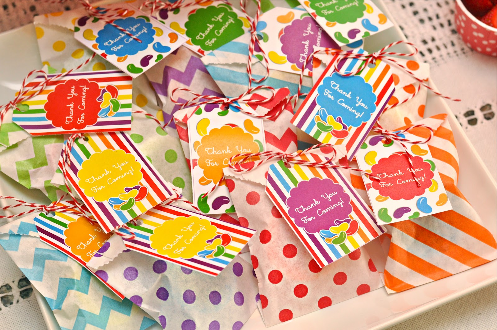 Rainbow Jelly Bean Birthday Party Ideas Party Ideas Party Printables