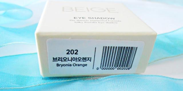 BEIGE CHUU #202 Bryonia Orange Eye Shadow