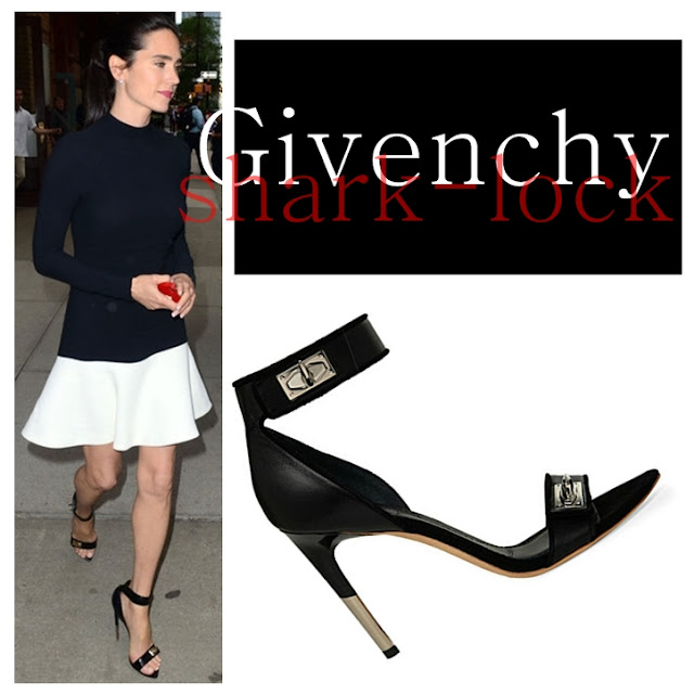 Jennifer Connelly Givenchy Shark Lock Sandals