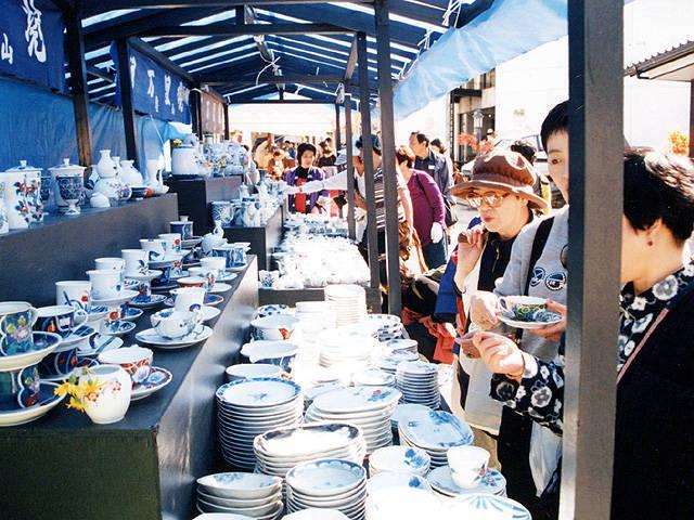 Spring Sale of Imari Porcelain at Imari City, Saga Pref.