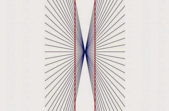Ilusão de ótica - Linhas ou Corredor
