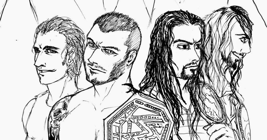 WWE coloring page ~ Instant Knowledge