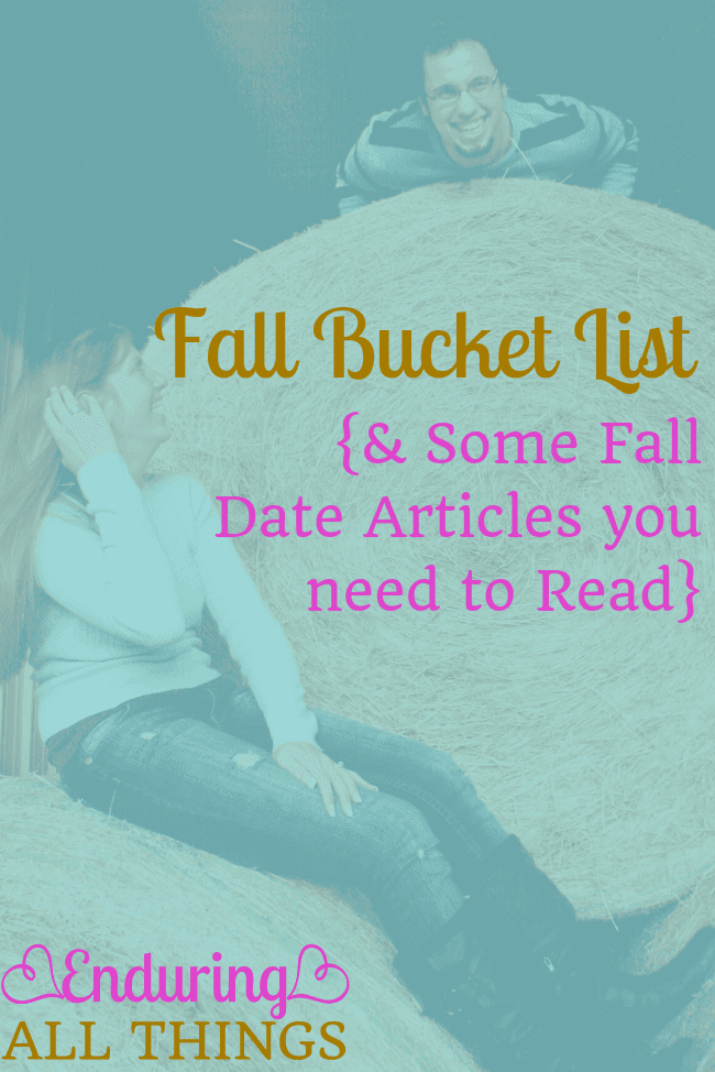 Fall is such a fun season with a ton of activities to do. Especially on a date. I've compiled a bucket list of autumn date ideas I want to do with my husband. I've also shared a round-up of articles all about fall activities that you don't want to miss out on this season!