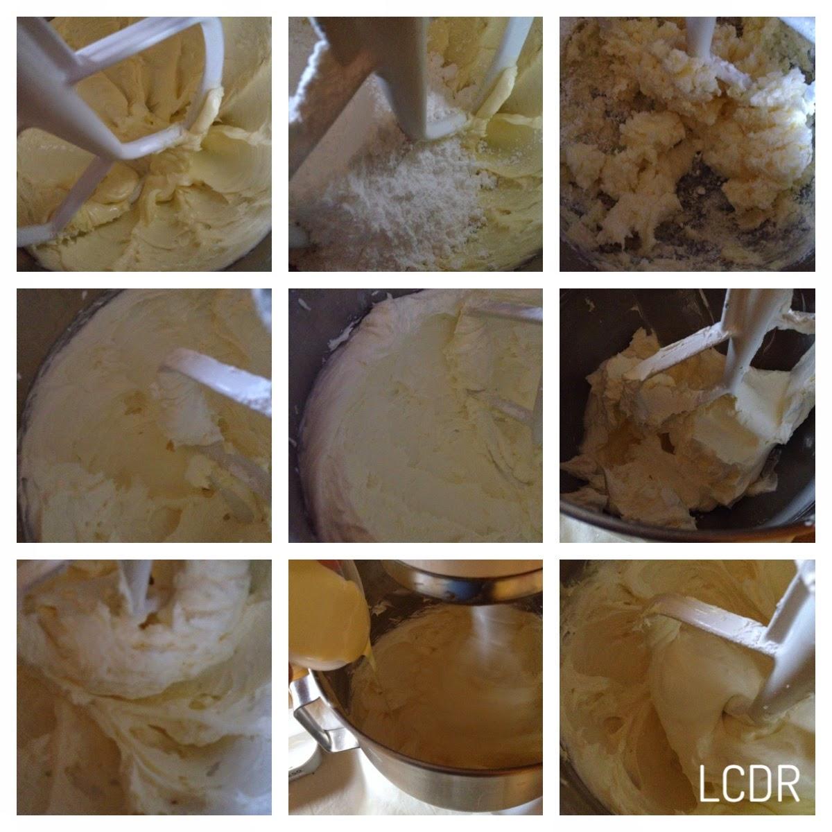 Elaboración de la crema de queso y chocolate blanco