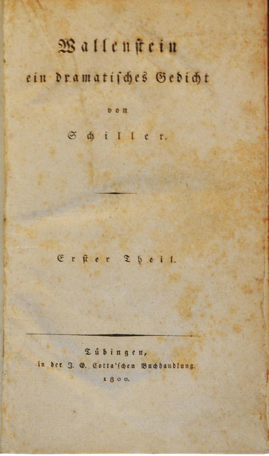 CONVERSAZIONI PARALLELE Friedrich Schiller Seria ¨ La Vita Ma
