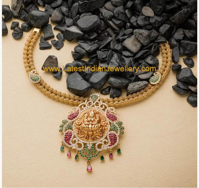 Colorful Lakshmi Necklace