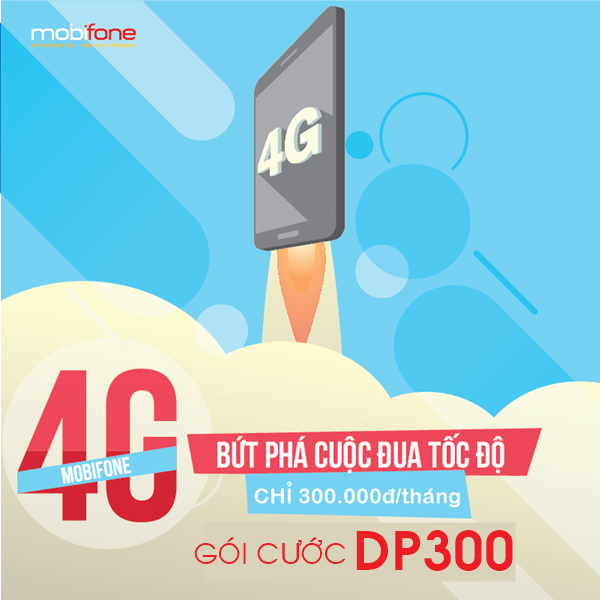 Đăng ký gói DP300 Mobifone có ngay 6GB dung lượng
