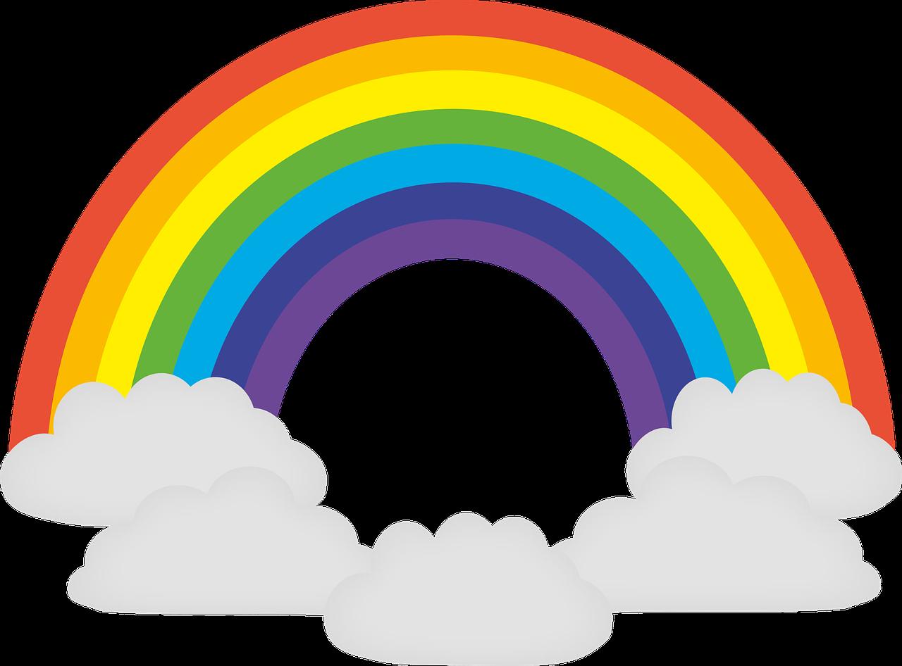 Die farben des regenbogens reihenfolge