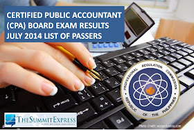 List of Passers: CPA Board Exam Results July 2014
