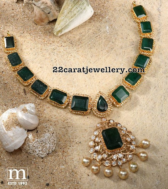 Emerald Uncut Set by Sri Mahalaxmi Jewels