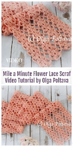 Flower Lace Scarf, Easy to Make