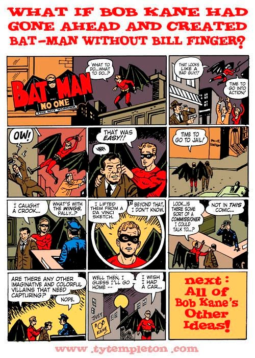 What If Bob Kane Had Gone Ahead And Created Batman Without Bill Finger